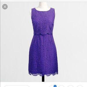 EUC J. Crew Factory Lace shift dress Size 12